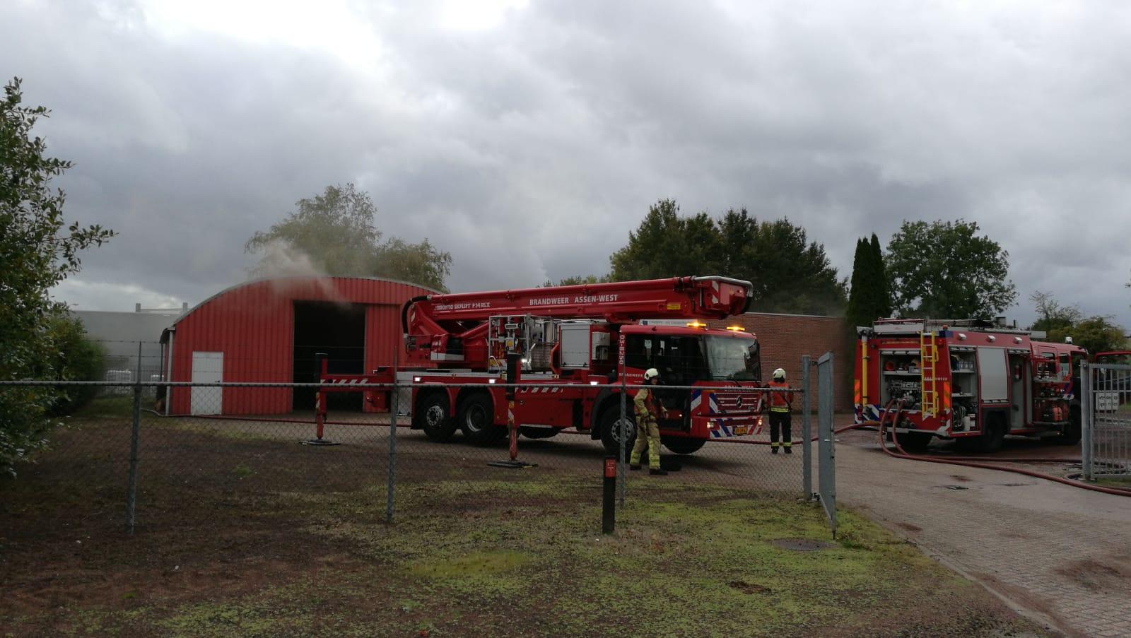 Flinke Rookontwikkeling bij een brand in Assen